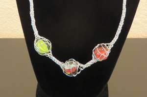 Sterling silver necklace by Megan Tilley
