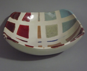 Susan Sternlieb consistently chooses a contemporary look for her pottery.