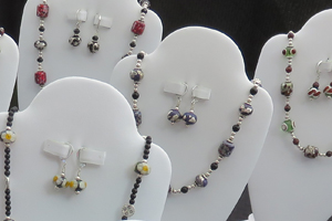 Gayle Stringer's handmade glass-bead jewelry