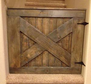 Wooden baby gate sold by The Pink Moose in Colorado