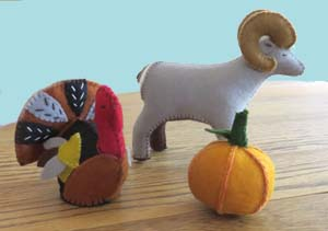 Holly Myers' felt creations have appeal for adults as well as children.