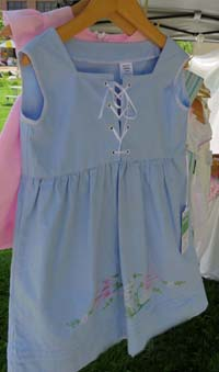Child's dress by Kristin McMahan, made from upcycled pillowcase