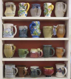 Ceramic mugs by Trimble Court Artisans