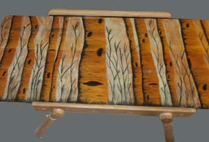 Upcycled wood furniture by Jennifer Kalous