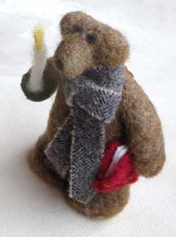 Felted wool bear by Fran Bowen of Fort Collins