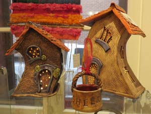 Ceramic cottages by Christina Hellyer
