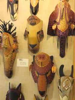 Animal masks by Hilarey Walker