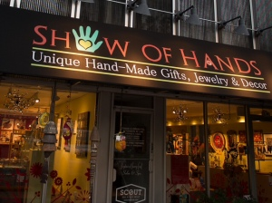 Show of Hands, a gallery in Denver's Cherry Creek North shopping district