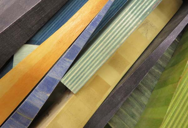 Sample colors of wood for projects by Anne Bossert