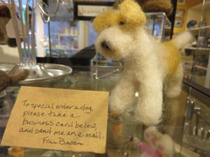Felted wool dog by Fran Bowen