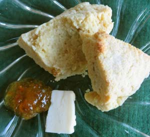 Butter and orange fig jam are great toppings for fresh scones.