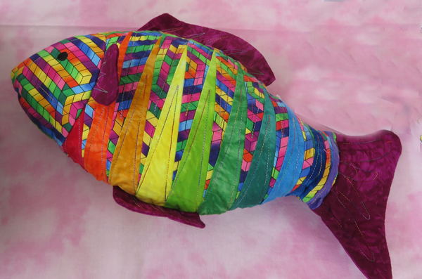 Stuffed toy fish by Pat Abbitt