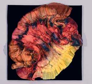 """Sunswirl,"" silk fiber art by Phillippa Lack"