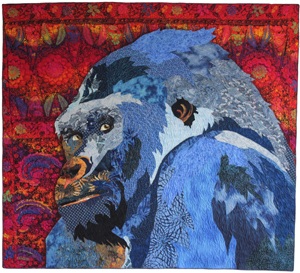 """Beauty of the Beasts,"" fiber art by Barbara Yates Beasley"