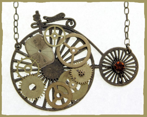 Steampunk necklace from BeeBull Designs