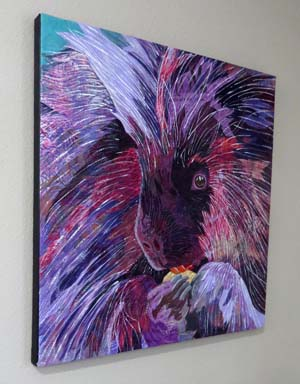 """Spiney"" -- a fabric collage by Barbara Yates Beasley"