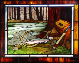 Painted stained glass art from River Wind Glass Art
