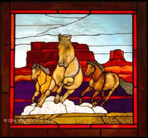 """Mustang Mesa"" from River Wind Art Glass"