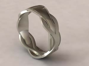 White gold ring by Tom Linenberger