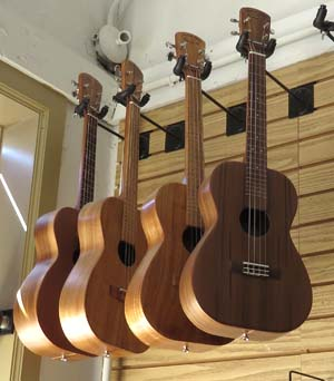 ukeleles made by Mike Medeiros