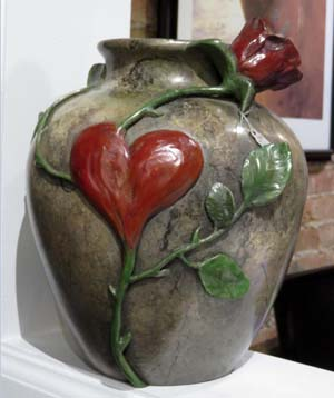 Bronze vase by Carey Hosterman