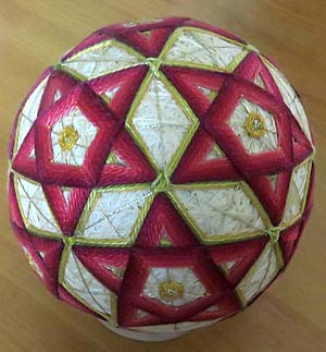 Temari ball by Becky Margenau