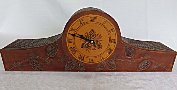 leather clock by Jeff Icenhower