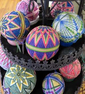 temari balls by Becky Margenau