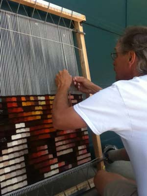 Tapestry weaver David Johnson of Thornton, Colorado