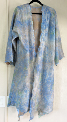 Award-winning coat of felted alpaca and silk by Anne Phillips