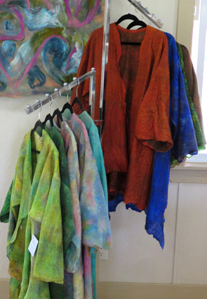 Jackets of felted wool and silk by Anne Phillips