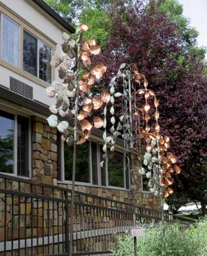 Copper wind art by Larry Pryor