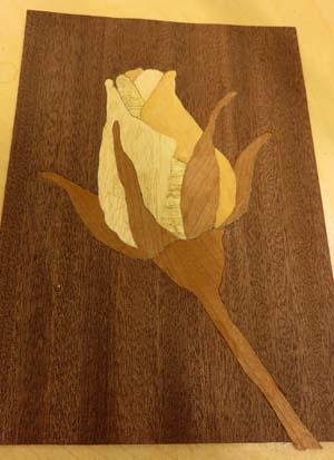 A beginner's marquetry project