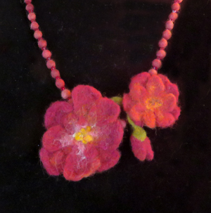 Felted wool necklace by Kaye Dudek