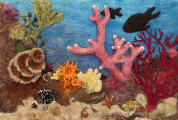 Felted wool seascape by Kaye Dudek