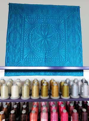 Monochromatic quilt designed by Kelly Abbott-Gallagher